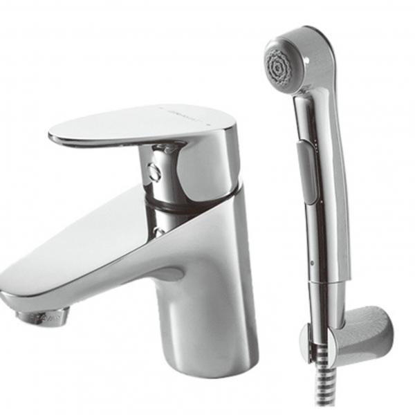 Купить Смеситель для раковины Bravat Drop с гигиеническим душем F14898C-2, Германия