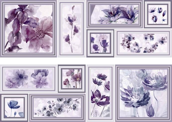 Купить Керамическая плитка Mallol Genova Decor Memories Lila-2 Панно (из 2-x пл.) 50x75, Испания