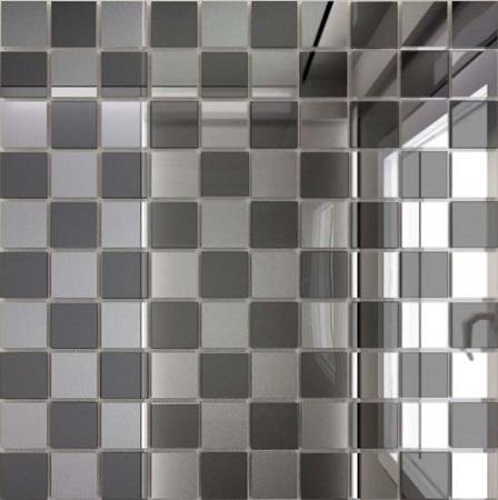 Купить Мозаика зеркальная Серебро + Графит С50Г50 ДСТ 25 х 25/300 x 300 мм (10шт) - 0, 9, Россия