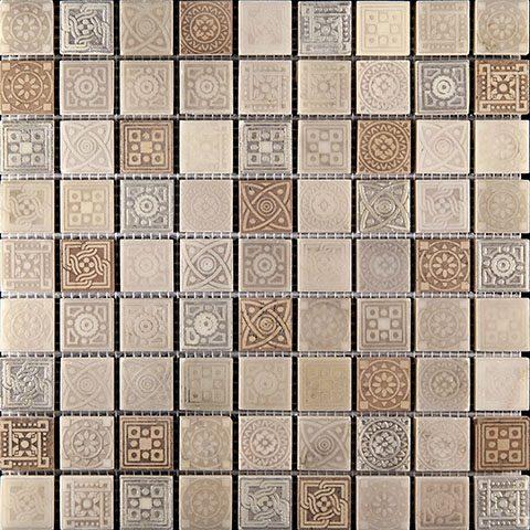 Мраморная мозаика Skalini Legend LGN-3 (3х3) 30х30