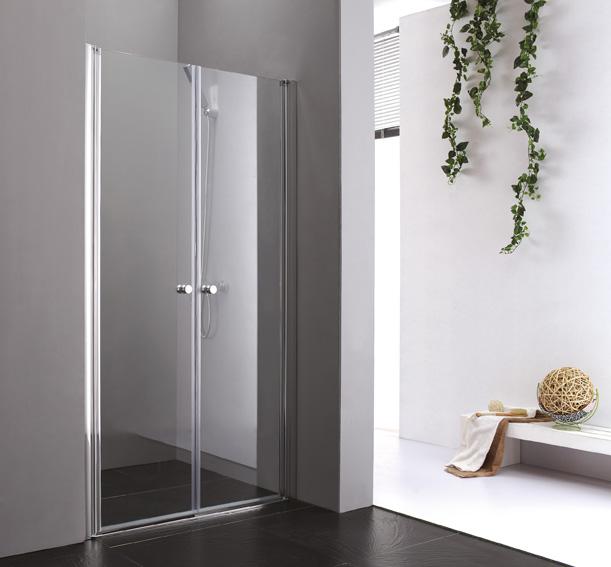 Купить Душевая дверь в нишу CEZARES ELENA B-2 1950x1150 (матовое стекло) Хром, Италия