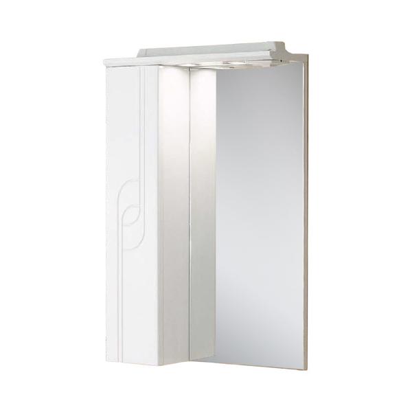Зеркальный шкаф АКВАТОН ПАНДА 50 левое белый