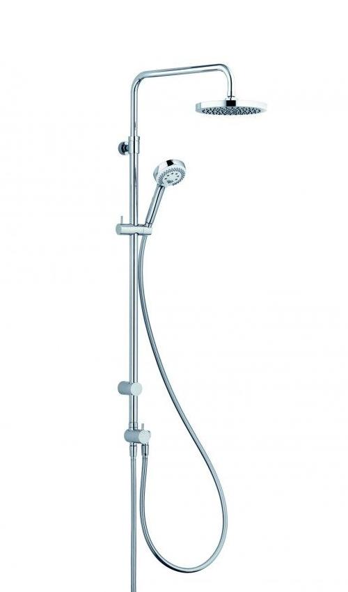 Душевая колонна с ручным и верхним душем Kludi Logo 3 режима, хром 6809105-00