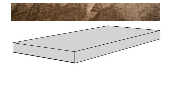 Купить Ступень Seranit Fossil Brown Lappato угловая 33x120, Турция