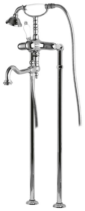 Купить Смеситель для ванны и душа Cezares Venezia хром, ручка белая VENEZIA-VDP-01-Bi, Италия