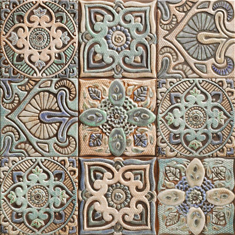 Купить Керамическая плитка Mainzu Centro Mandala декор 20х20, Испания