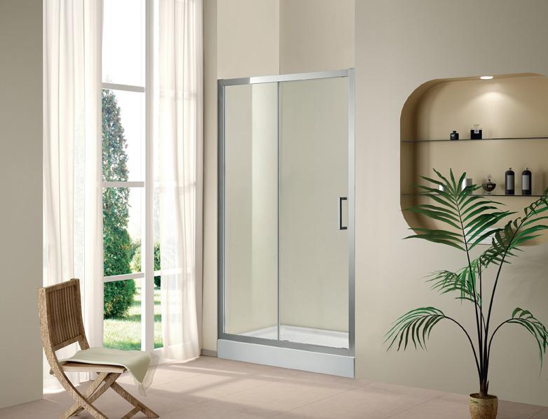 Купить Душевая дверь в нишу CEZARES PORTA BF-1 1950x1400 (матовое стекло) Хром, Италия