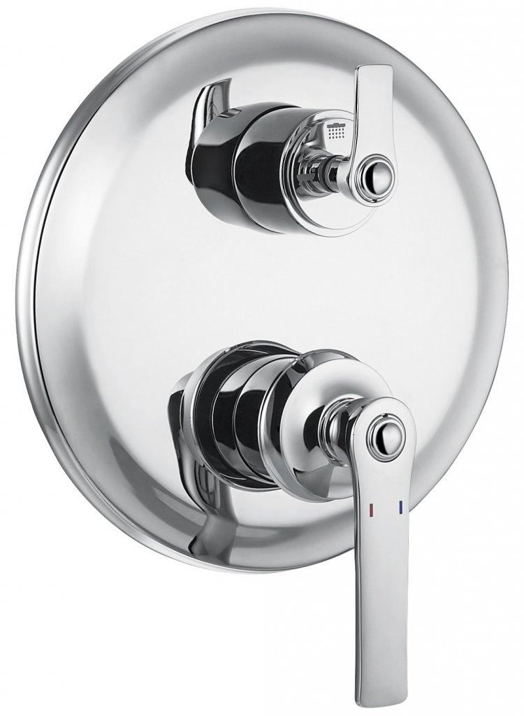 Купить Встраиваемый смеситель для ванны и душа Cezares Liberty хром LIBERTY-F-VDIM3-01, Италия