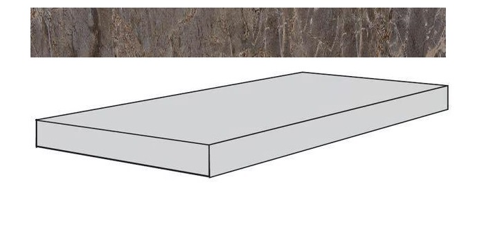 Купить Ступень Seranit Gusto Taupe-Grey Lappato угловая 33x120, Турция