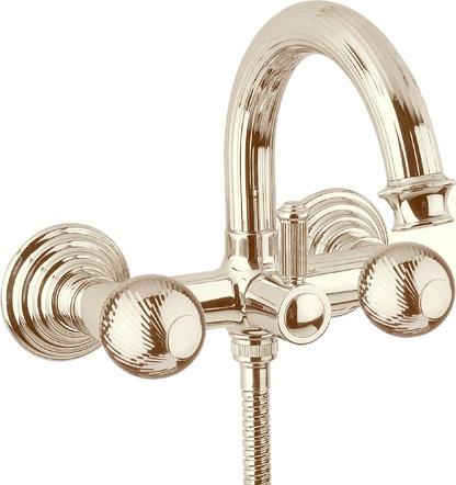 Купить Смеситель для ванны и душа Cezares Olimp бронза, ручка металл OLIMP-VD-02-M, Италия