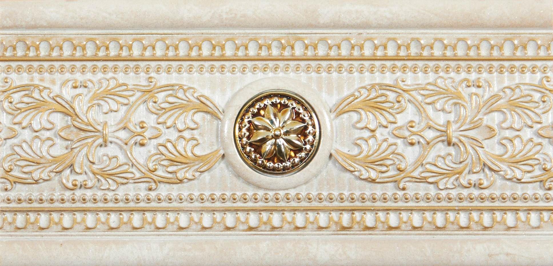 Купить Керамическая плитка Newker Coliseum Forum A Ivory Listello бордюр 15x31, Испания