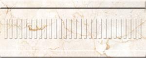 Купить Керамическая плитка Belleza Монкада коричневый объемный бордюр 10х25, Россия