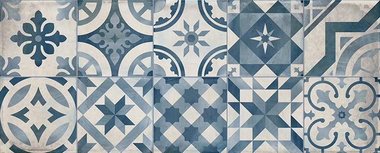 Купить Керамическая плитка Cifre Decor Montblanc Blue настенная 20х50, Cifre Ceramica, Испания