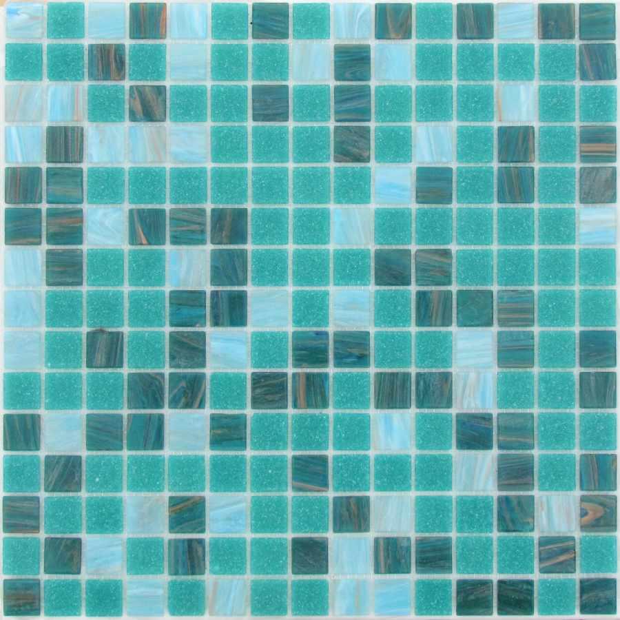 Стеклянная Мозаика China Mosaic Aquamarine (20x20x4) 32, 7х32, 7, Китай  - Купить