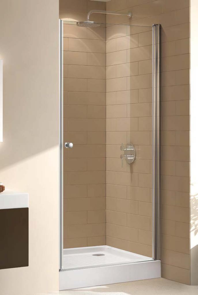 Купить Душевая дверь в нишу CEZARES ECO-O-B-1 1900x950 (матовое стекло) Хром, Италия