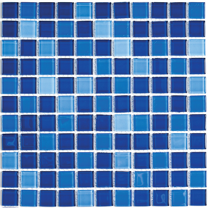 Купить Мозаика Jump Blue №1 (Dark) (4x25x25) Растяжки 30x30, China Mosaic, Китай