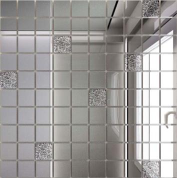 Купить Мозаика зеркальная Серебро + Хрусталь С90Х10 ДСТ 25 х 25/300 x 300 мм (10шт) - 0, 9, Россия