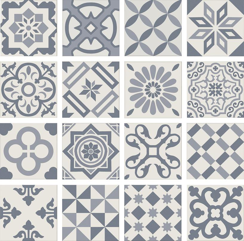 Купить Керамическая плитка Ribesalbes Antigua PT01950 Decor Azul декор 20х20, Испания