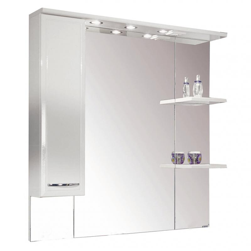 Купить Зеркало АКВАТОН ЭМИЛИ 105 со шкафом левое, белый, Акватон, Россия