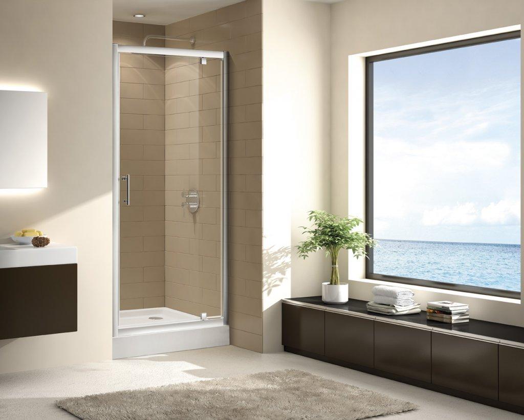 Купить Душевая дверь в нишу CEZARES ECO-BA-1 1900x800 (матовое стекло) Хром, Италия