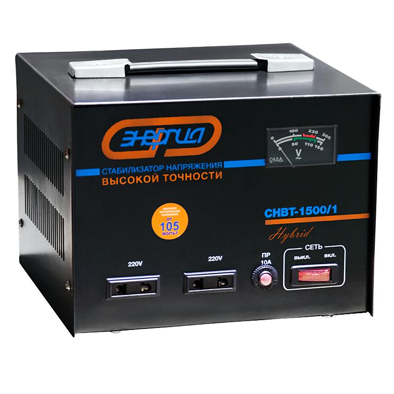 Купить Стабилизатор напряжение Энергия CНВТ- 1500/1 Hybrid, Россия
