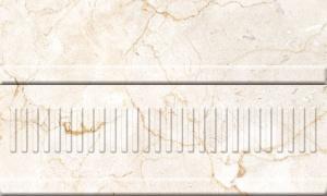 Купить Керамическая плитка Belleza Монкада коричневый объемный бордюр 15х25, Россия