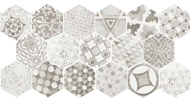 Купить Керамогранит Equipe Hexatile 22099 Cement Garden Grey 17, 5x20, Испания