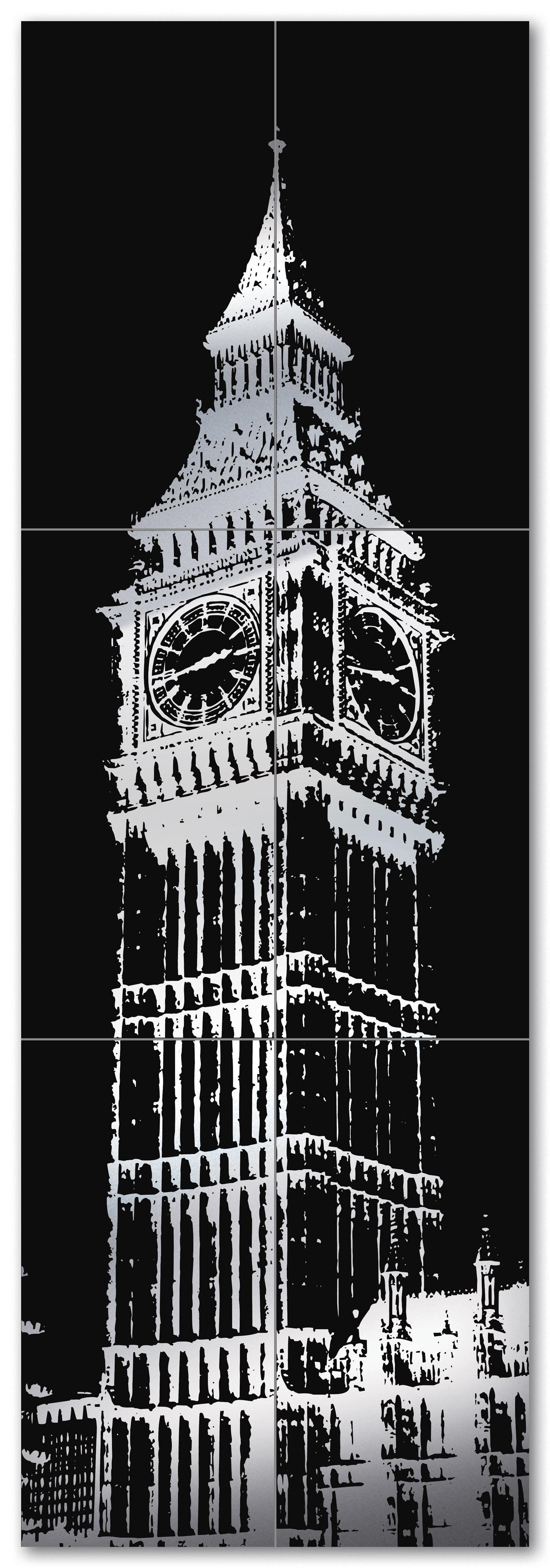 Купить Керамическая плитка Tubadzin London D-Big Ben 2 (6 шт) панно 59, 8x179, 8, Польша