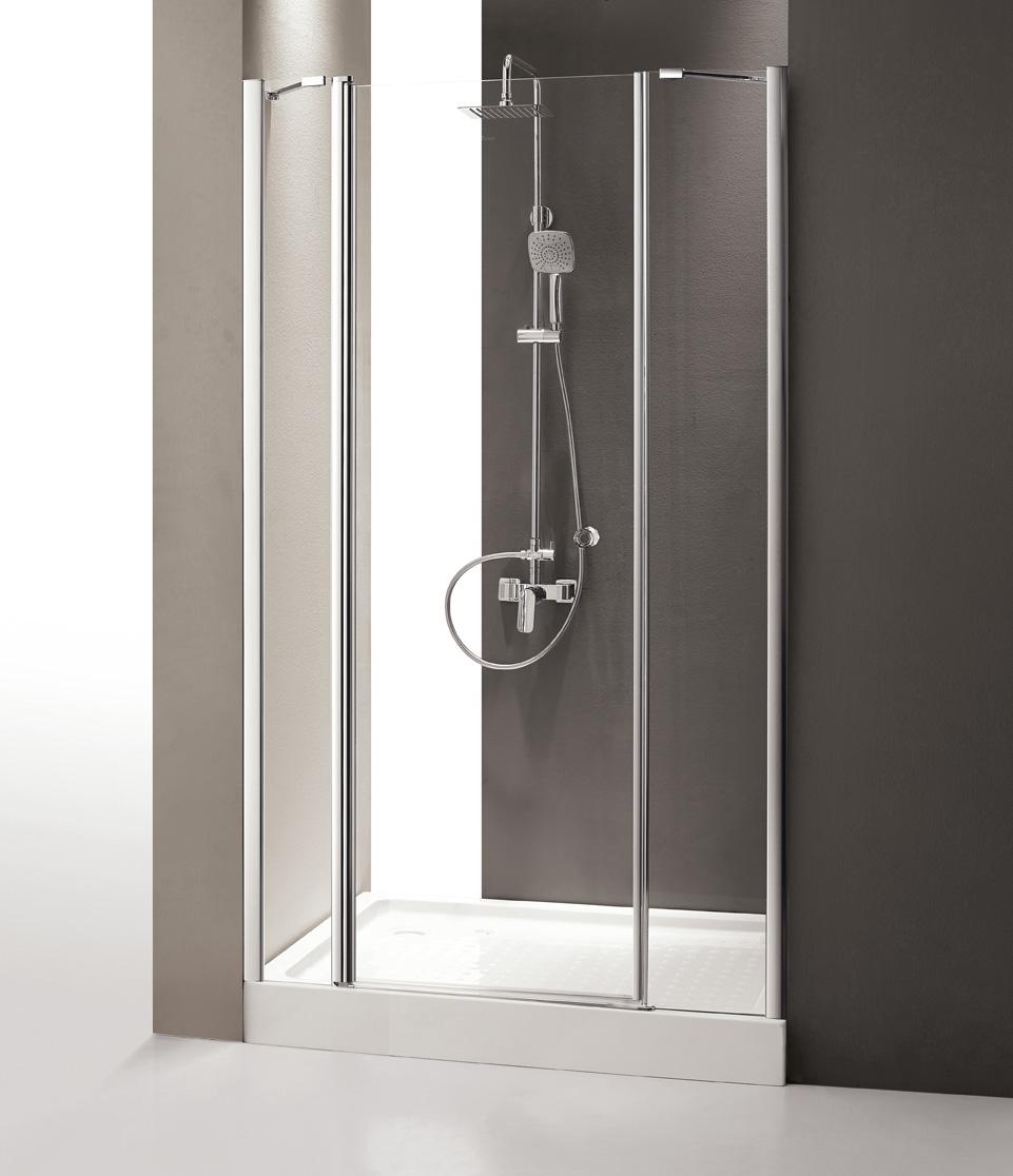 Купить Душевая дверь в нишу CEZARES TRIUMPH B-13 1950x1400 (матовое стекло) Хром, Италия