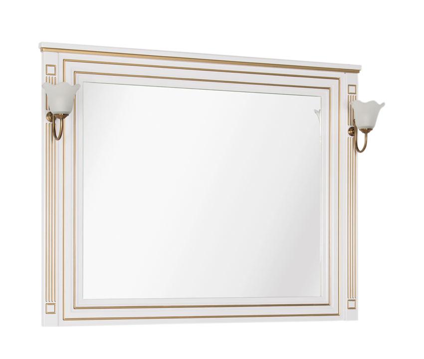 Купить Зеркало Aquanet Паола 120 белый/золото 00186105, Россия