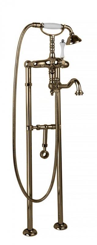 Купить Смеситель для ванны и душа Cezares Margot бронза, ручка металл MARGOT-VDP2-02-M, Италия