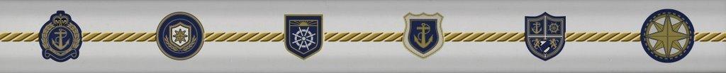 Купить Керамическая плитка Maritima Listelo Heraldic СБ089 бордюр 3х30, Испания