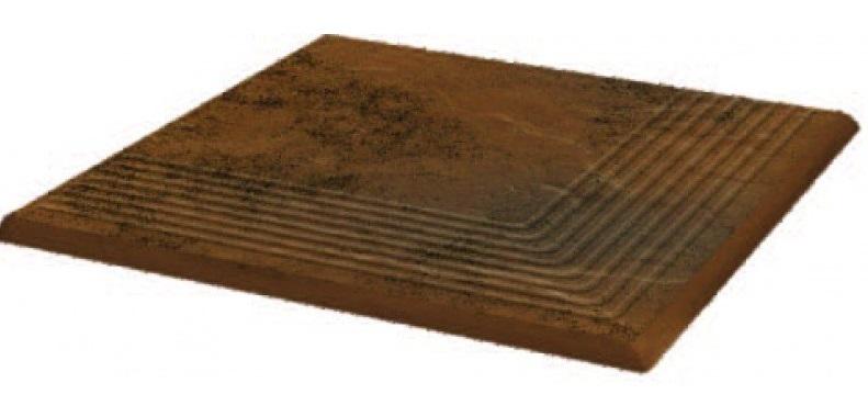 Купить Керамическая плитка Grupa Paradyz Semir Beige Ступень рифленая наружная структурная 30х30х1, 1 (шт), Польша