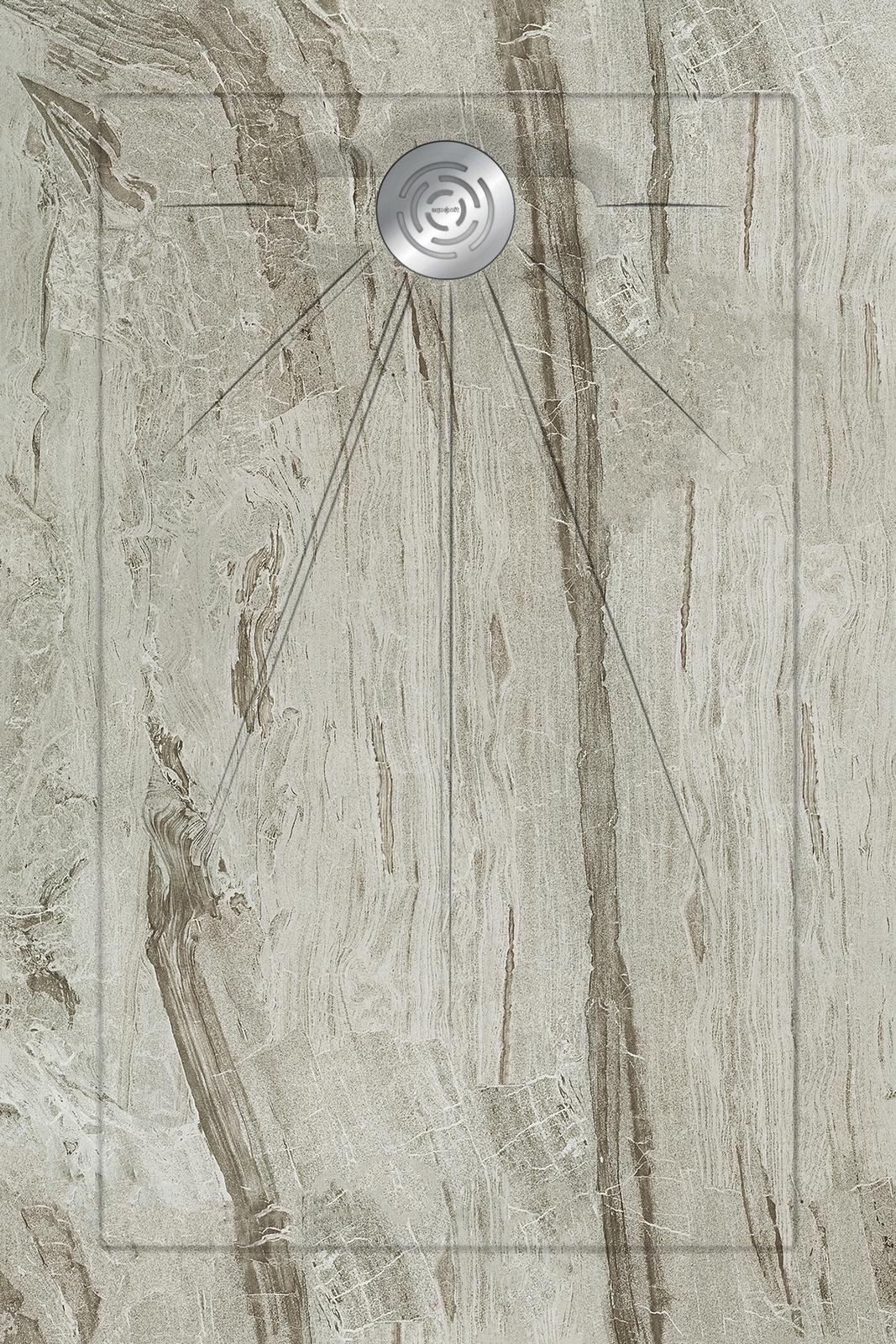 Душевые поддоны Aquanit Misto Grey Multi Circle Eco 90x135