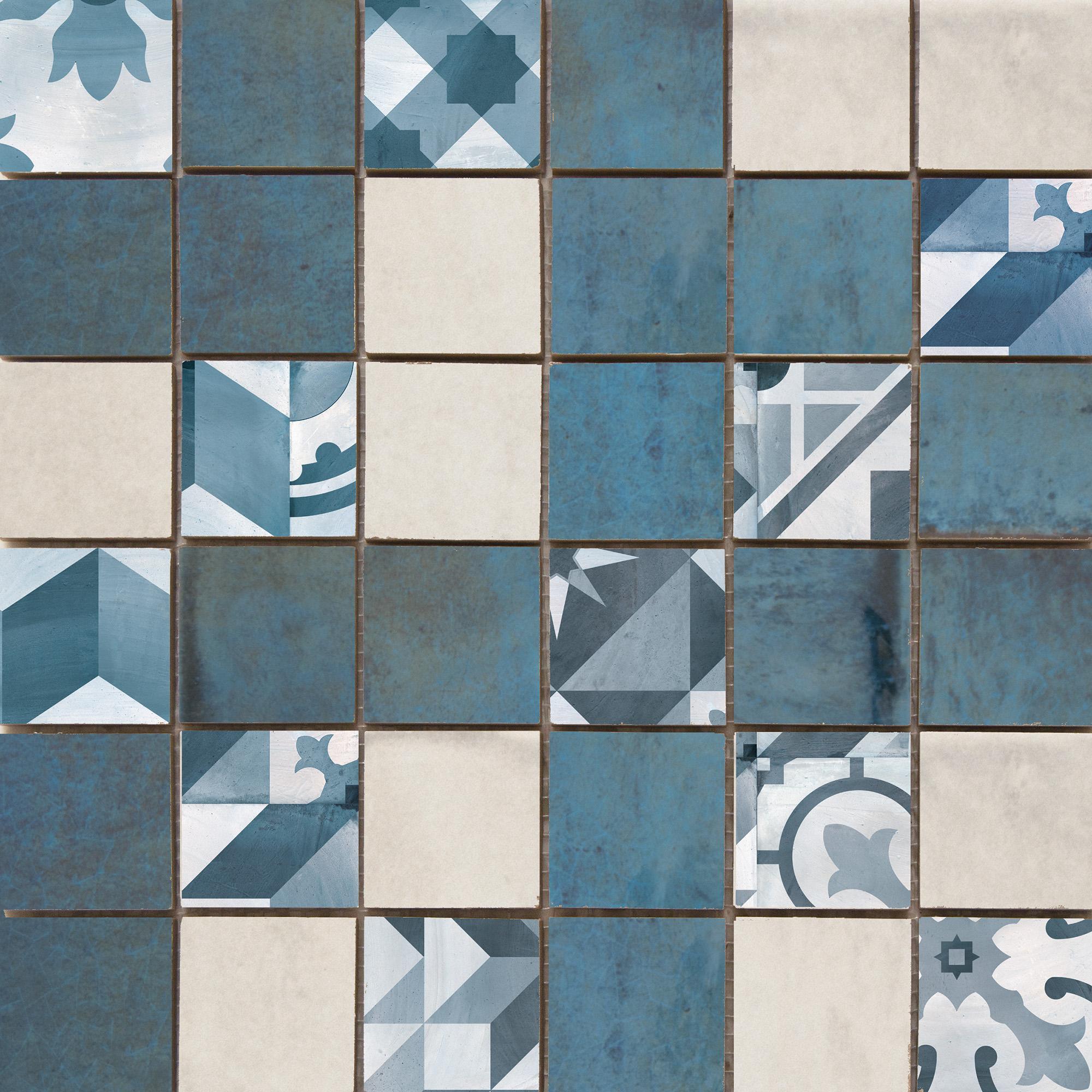 Купить Керамическая плитка Cifre Montblanc Mosaico Blue мозаика 30x30, Cifre Ceramica, Испания