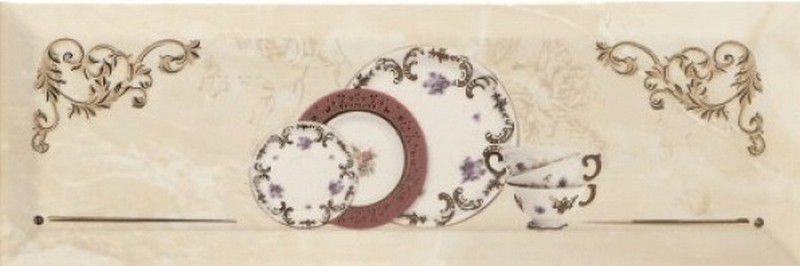 Купить Керамическая плитка Monopole Petra Decor Pranzo Gold A декор 10х30, Испания
