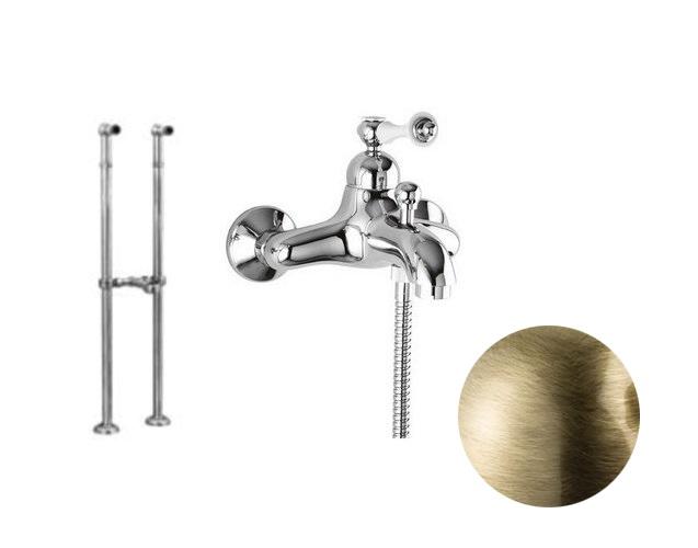 Купить Смеситель для ванны и душа Cezares Margot бронза, ручка металл MARGOT-VDPMS-02-M, Италия