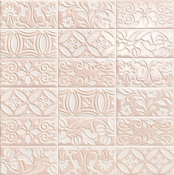 Купить Керамическая плитка Mainzu Velvet Decor Pink Настенная 10x20, Испания