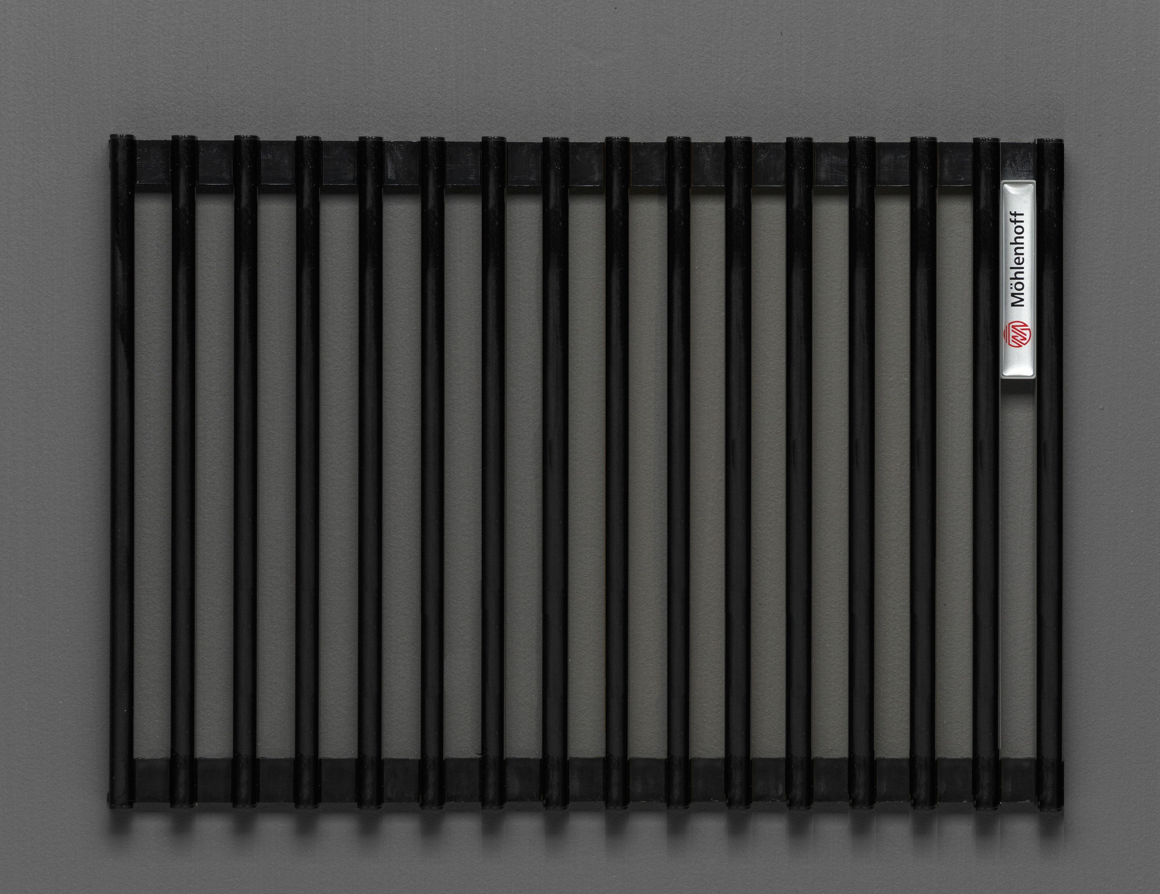 Купить Декоративная решётка Mohlenhoff черный, шириной 410 мм 1 пог. м, Россия