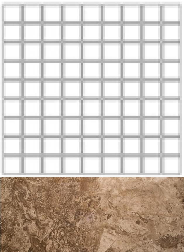 Купить Керамогранит Seranit Fossil Mosaic 3D Brown Full Lappato (7, 5x7, 5) мозаика 30x30, Турция