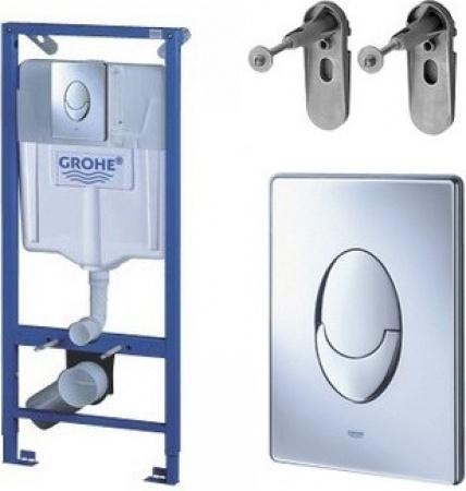 Купить Система инсталляции для унитаза GROHE Rapid SL с панелью смыва Skate Air (3 режима), комплект 3-в-1 38721001, Германия