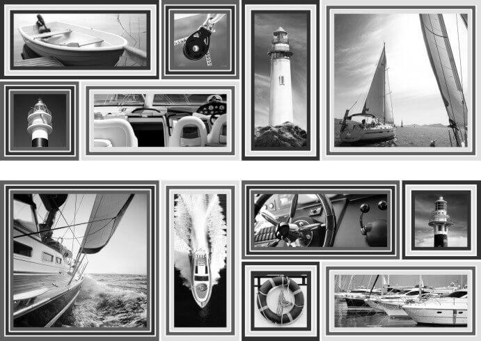 Купить Керамическая плитка Mallol Genova Decor Memories Gris-2 Панно (из 2-x пл.) 50x75, Испания