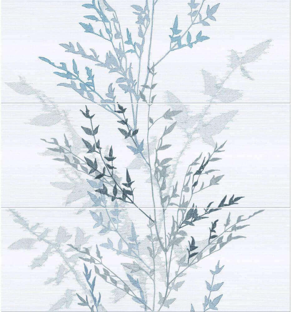 Купить Керамическая плитка Keraben Fresh Decor Nippon (set 3 pz) Blanco панно 70x75, Испания