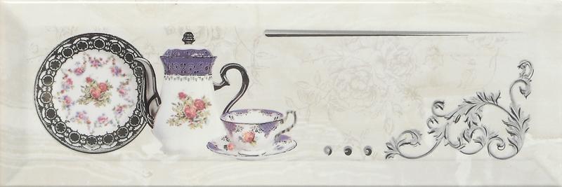 Купить Керамическая плитка Monopole Petra Decor Pranzo Silver B декор 10х30, Испания