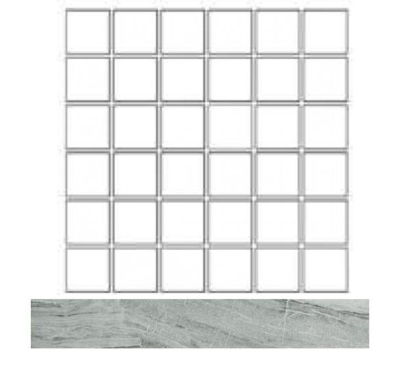 Купить Керамогранит Seranit Misto Mosaic Grey Lappato (5x5) мозаика 30x30, Турция