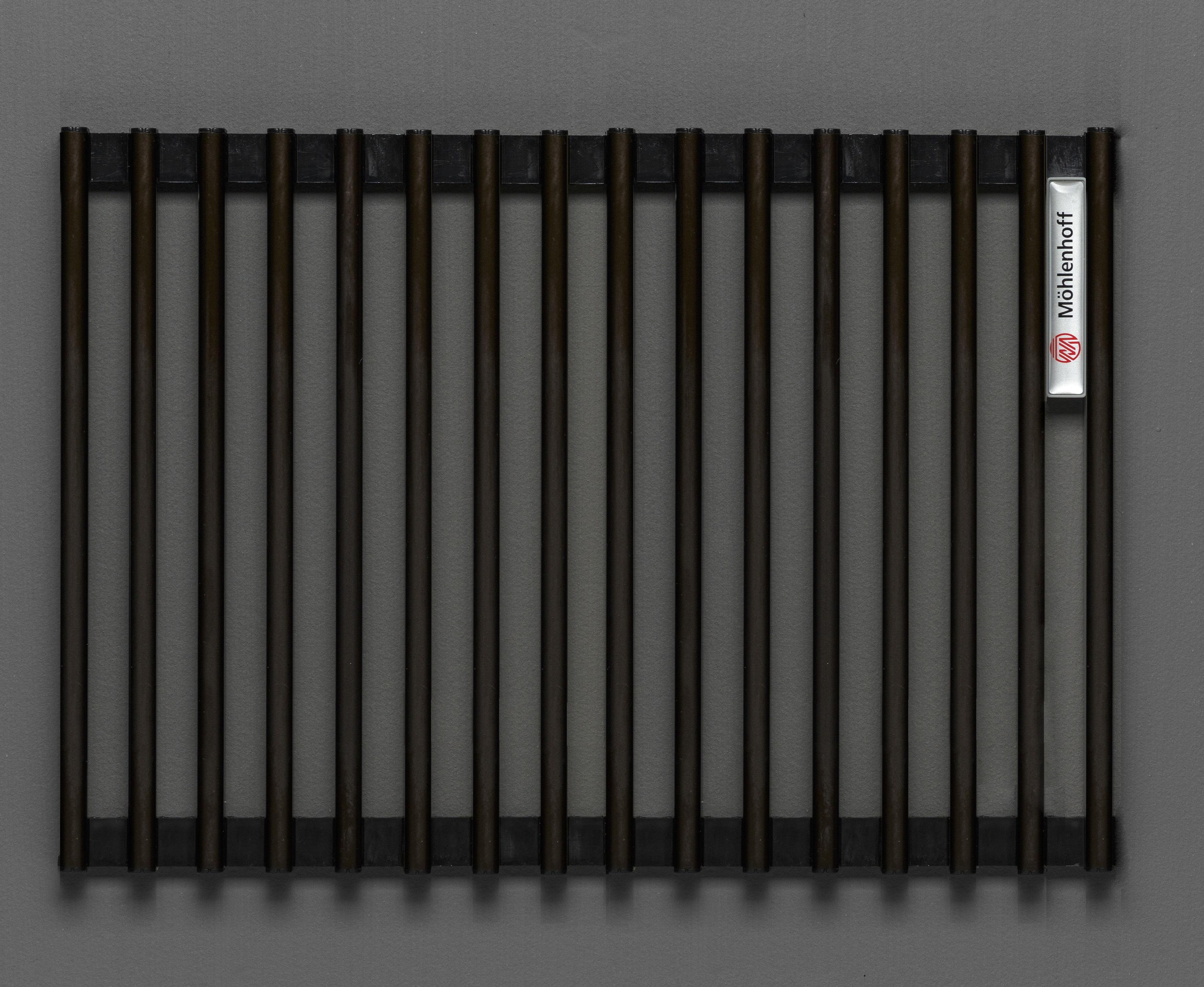 Купить Декоративная решётка Mohlenhoff темная бронза, шириной 410 мм 1 пог. м, Россия