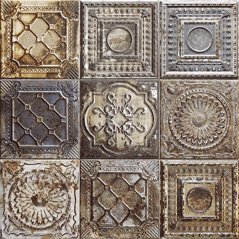 Купить Керамическая плитка Mainzu Tin-Tile Rusty Mix (без подбора) настенная 20х20, Испания