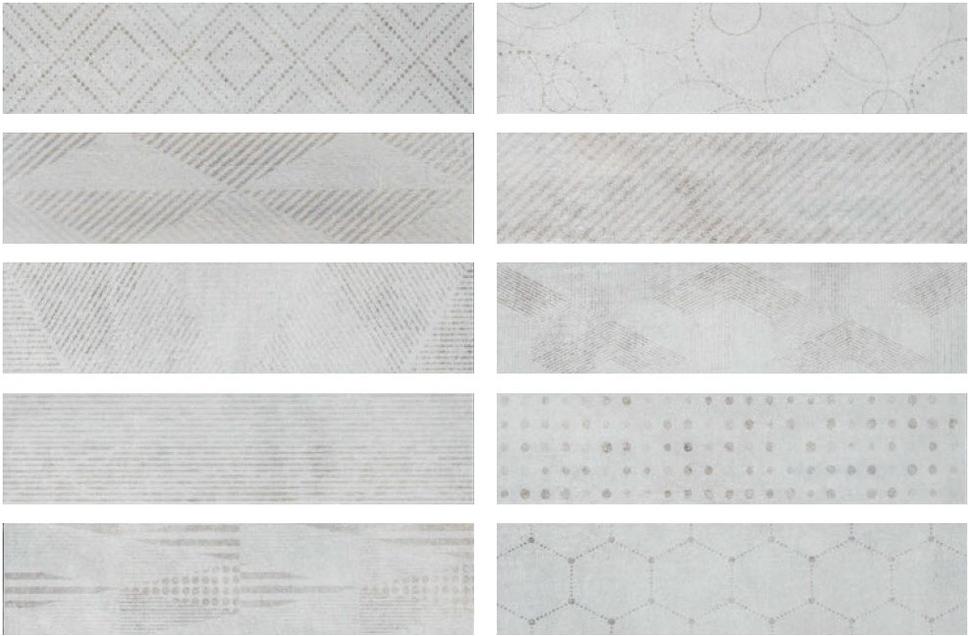 Купить Керамогранит Serenissima Docklands Freeport Mix White (10mix) 8, 6х35, Италия