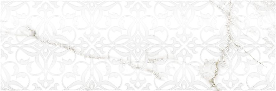 Купить Керамическая плитка Velutti white Декор 01 25х75, Gracia Ceramica, Россия