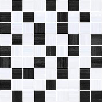 Купить Керамическая плитка Ceramica Classic Stripes Мозаика чёрный+серый 30х30, Россия